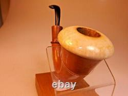 Jobey Calabash Gourd Sherlock Style Gourd Block Meerschaum Bowl Ebonite Rbr Stem