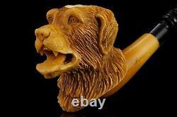 KENAN Dog Figure PIPE new-block Meerschaum Handmade W Case#1271