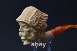 Kenan Ancient Viking Pipe New Block Meerschaum W Case#321