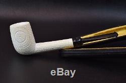 L Lattice Billiard Pipe By Tekin-new-block Meerschaum Handmade W Case#621