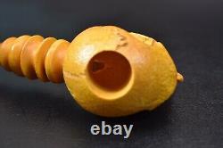 L SIZE Skull Pipe BY SADIK YANIK Block Meerschaum Handmade -NEW W CASE#441