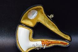 L Smooth Acorn Pipe By Tekin-new-block Meerschaum Handmade W Case#1160