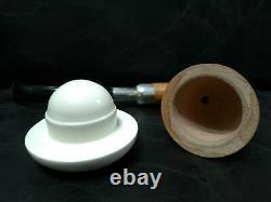 LARGE CALABASH PIPE & SMOOTH BLOCK MEERSCHAUM BOWL & SILVER SPIGOT SYSTEM az2