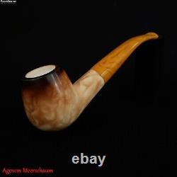 LEE VAN CLEEF Block Meerschaum Pipe, Turkish Smoking Tobacco Pipa Estate AGM-517