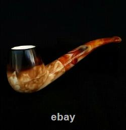 LEE VAN CLEEF Block Meerschaum Pipe, Turkish Smoking Tobacco Pipa Estate AGM-598