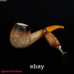 LEE VAN CLEEF SET Block Meerschaum Pipe, Smoking Tobacco Pipa Estate AGM-519