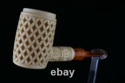 Large Bowl Deep Lattice Poker Meerschaum Pipe, The Best Block Meerschaum
