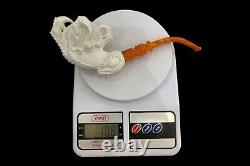 Large Claw Holds Ornate Egg Pipe By Altay New Handmade Block Meerschaum Case#140