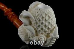 Large Claw Holds Ornate Egg Pipe By Altay New Handmade Block Meerschaum Case#566