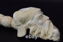 Large Dunhill Head PIPE-BLOCK MEERSCHAUM-NEW-HANDCARVED- W Case#500