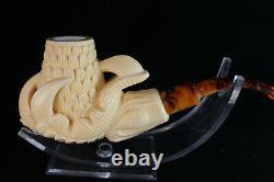 Large Eagle's Claw Meerschaum Pipe, 100% Solid Block Meerschaum, Unsmoked Pipe