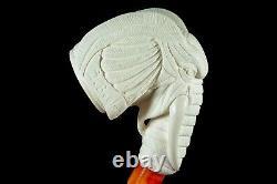 Large Size Elephant Pipe By I BAGLAN New Block Meerschaum Handmade W Case866
