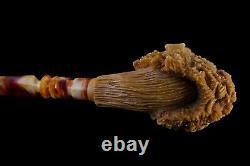 Large Size Talking Tree FIGURE Pipe BY KENAN Block Meerschaum-NEW W CASE#1316