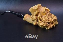 Large Size Talking Tree FIGURE Pipe BY KENAN Block Meerschaum-NEW W CASE#578