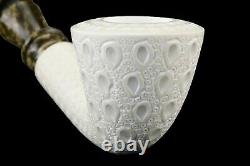 Lattice Bent Dublin Pipe By Tekin-new-block Meerschaum Handmade W Case#1577