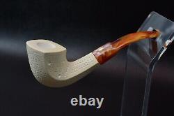 Lattice Bent Panel Pipe By ALI -new-block Meerschaum Handmade W Case#1272