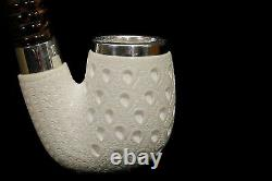 Lattice OOM PAUL Pipe By Tekin-new-block Meerschaum Handmade W Case#1455