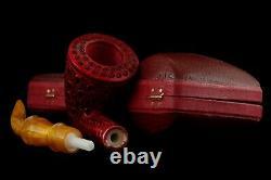 Lattice Pickaxe Pipe By Tekin BLOCK MEERSCHAUM-NEW-HAND CARVED W Case#1564