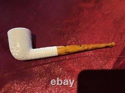 Lattice Style Turkish Block Meerschaum Pipe By Turmeermar