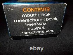 MANX MEERSCHAUM CARVING Kit withBlock & Practice Meerschaum Scalpel, Wax, Instr