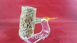 Mason Meerschaum Pipe, Hand carved Meerschaum Pipe, The block Meerschaum pipe