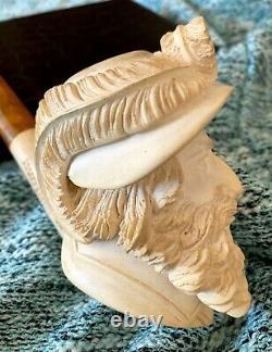 Massive Turkish Block Meerschaum Pipe Master Carved Very Nice Carving