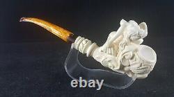 Mermaid special work meerschaum pipe, smoking pipe, hand carved pipe, block meersch