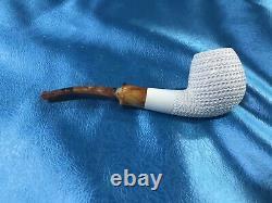 New Arrival Lattice Apple Block Meerschaum Pipe