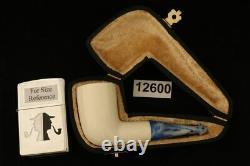 Nosewarmer Hand Carved Block Meerschaum Pipe with custom case 12600