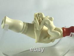 Nude Lady Cigarette Holder Block Meerschaum-NEW W CASE