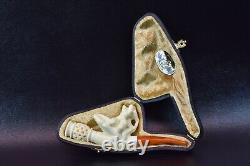 Nude Lady Cigarette Holder Block Meerschaum-handmade NEW W CASE#88