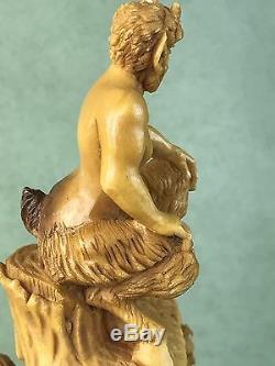 Nudes&devils Pipe By Karahan -block Meerschaum-new-handcarved Collectors Pipe