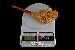 Ornate Bowl Dragon Pipe Block Meerschaum-NEW W CASE#903