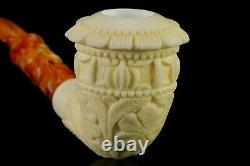 Ornate Calabash Pipe by Ali -new-block Meerschaum Handmade W Case#513