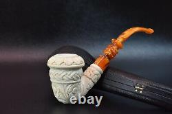 Ornate Topkapi Calabash Pipe New-block Meerschaum Handmade W Case#104