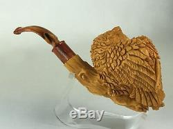 Owl Pipe BY SADIK YANIK Block Meerschaum-NEW W CASE