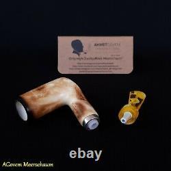 POKER Block Meerschaum Pipe, Smoking Pipe, Espuma pipa de espuma de mar AGM-346