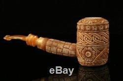 Poker Embossed Block Meerschaum Pipe in a fitted case 9130