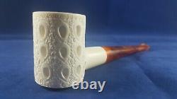 Poker pipe from block meerschaum, unsmoked meerschaum pipe