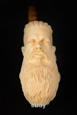 Ragnar Lothbrok Meerschaum Pipe, The Viking Warrior, Block Meerschaum