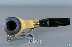 Rare Massive Nording African Block Meerschaum Billiard Saddle Stem 9mm