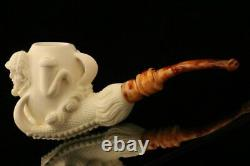 Sherlock Dr Watson Eagle's Claw Block Meerschaum Pipe with CASE 10258