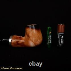 Short REVERSE Block Meerschaum Pipes Tamper, Silver, Pipa Di Schiuma Di Mare 307