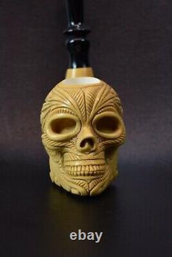 Skull Pipe By Kenan-new-block Meerschaum Handmade W Case&Tamper#480