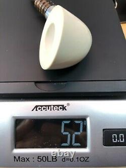 Smooth Bent Dublin Pipe By Tekin-new-block Meerschaum Handmade W Case#1466