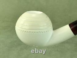 Smooth Tomato Pipe New block Meerschaum W Case#208 Free Shipping