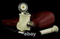 Special Calabash Pipe W Wind Cap By Ali W Tamper new block Meerschaum W Case#961