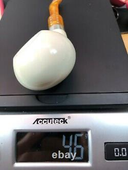 Squashed Tomato Pipe By Tekin New block Meerschaum Handmade W Case#11461