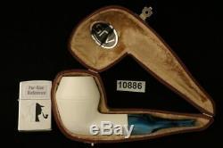 Srv Premium Bulldog Block Meerschaum Pipe with custom CASE 10886