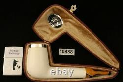 Srv Premium Canadian Block Meerschaum Pipe with custom CASE 10888